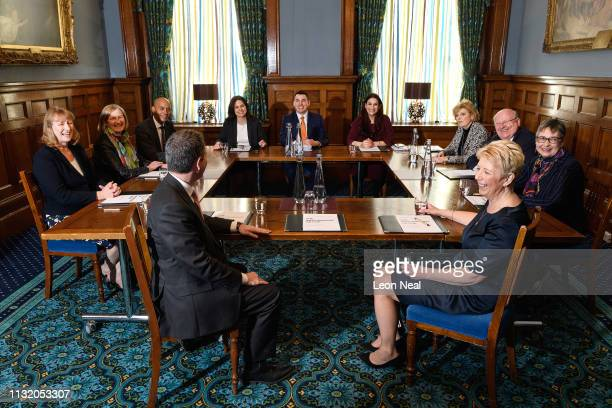 Former Labour and Conservative MPs Joan Ryan Sarah Wollaston Chuka Umunna Chris Leslie Heidi Allen Gavin Shuker Luciana Berger Anna Soubry Angela...