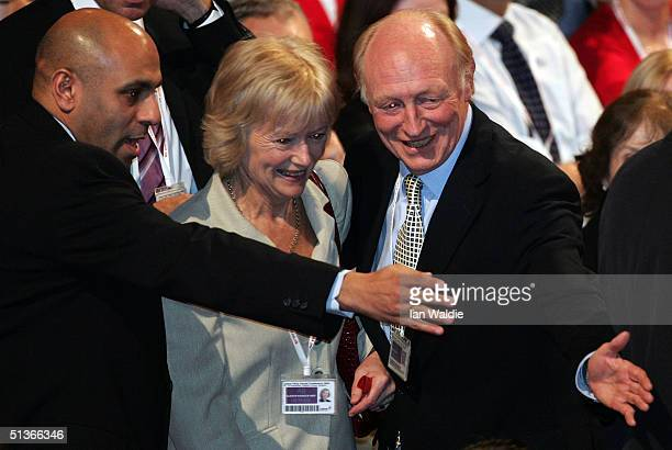 Former Labour leader and outgoing EU commissioner Neil Kinnock is seen next to his wife Glenys Kinnock moments before Britain's Prime Minister Tony...