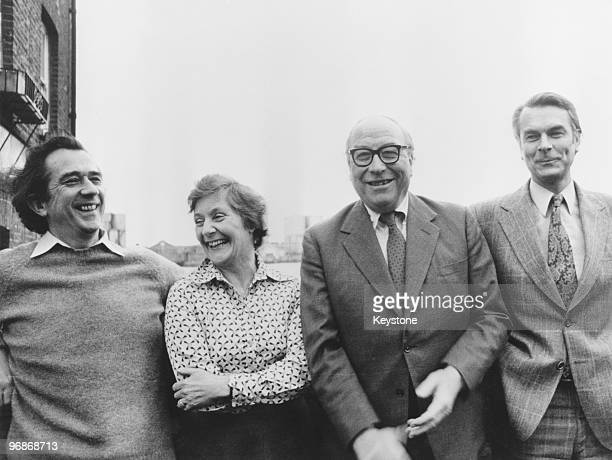 Former labour ministers left to right William Rodgers Shirley Williams Roy Jenkins and David Owen known as the Gang of Four after announcing the...