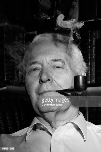 Former Labour MP and Cabinet Minister Tony Benn poses while at home on the 14th July 2003