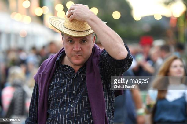 Former Labour MP Ed Balls attends Glastonbury Festival on June 23 2017 in Glastonbury England