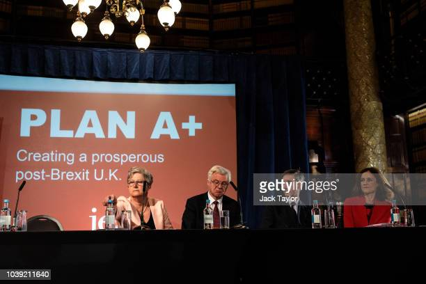 Former Labour MP Gisela Stuart former Brexit Secretary David Davis MP Jacob ReesMogg MP and former Secretary of State for Northern Ireland Theresa...