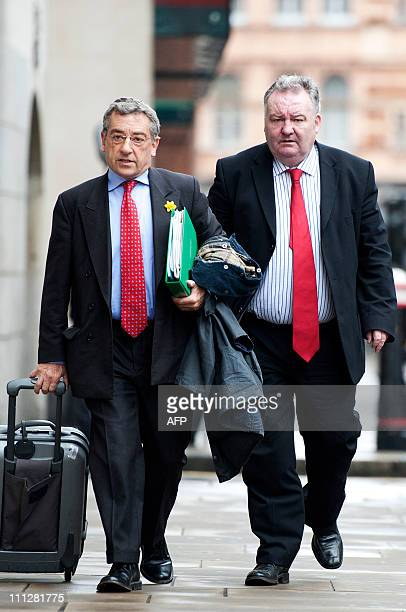 Former Labour MP Jim Devine arrives at the Old Bailey in central London, for sentencing after being found guilty of making false expenses claims, on...