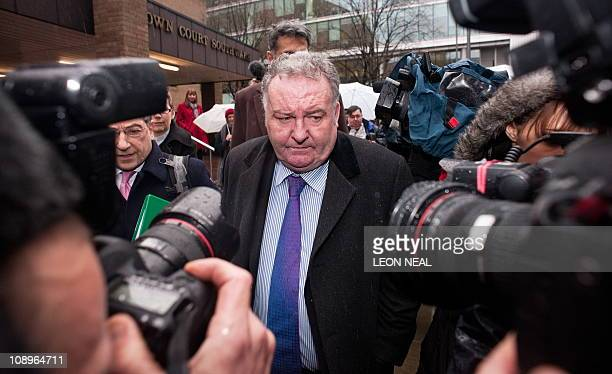 Former Labour MP Jim Devine leaves Southwark Crown Court in central London, on February 10, 2011. A court on Thursday found an ex-member of the...