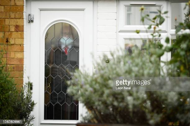 Former Labour Party leader Jeremy Corbyn prepares to leave his home on October 29, 2020 in London, England. The long-awaited report from the Equality...