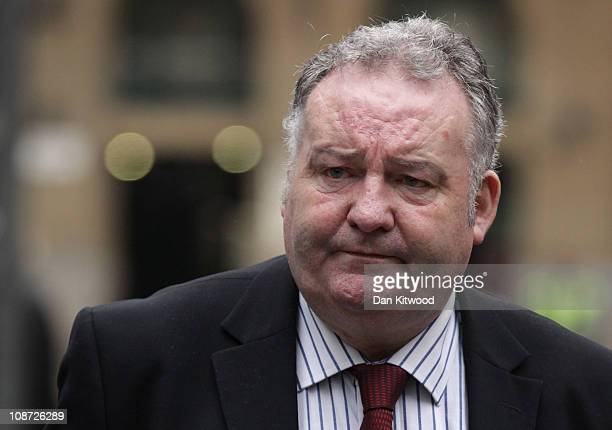 Former Labour Party MP Jim Devine arrives at Southwark Crown Court on February 2, 2011 in London, England. Mr Devine, who stepped down as an MP at...