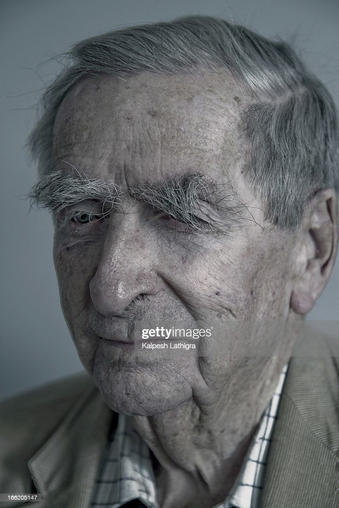 Former Labour party politican Denis Healey is photographed at home in Alfriston at the age of 95 for the New Statesman on March 28, 2013 in Alfriston near Seaford, England.