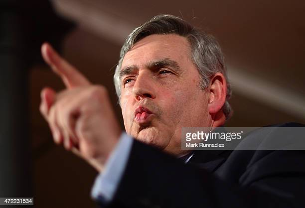 Former Labour Prime Minister Gordon Brown gives a rousing speech as Jim Murphy asks voters to choose between a fair economy or a second referendum at...