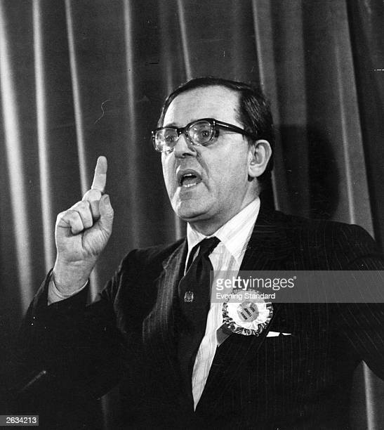 Former Labour Secretary of State for Northern Ireland Merlyn Rees at a Labour Party Conference