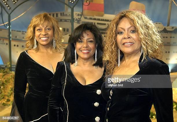 Former Ladies of the Supremes Musikgruppe Popmusik USA Auftritt in der TVShow 'ZDFSommerhitfestival' Vlnr Lynda Laurence Scherrie Payne Freddi Poole