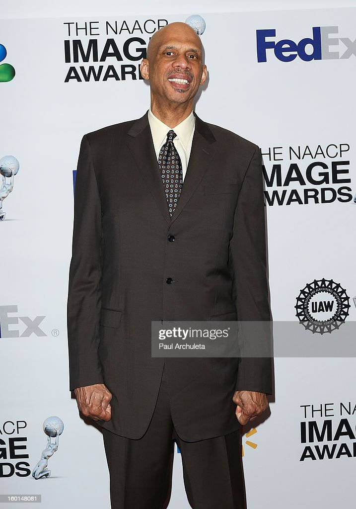 Former LA Laker Kareem Abdul-Jabbar attends the 44th NAACP Image Awards nominee's luncheon on January 26, 2013 in Beverly Hills, California.