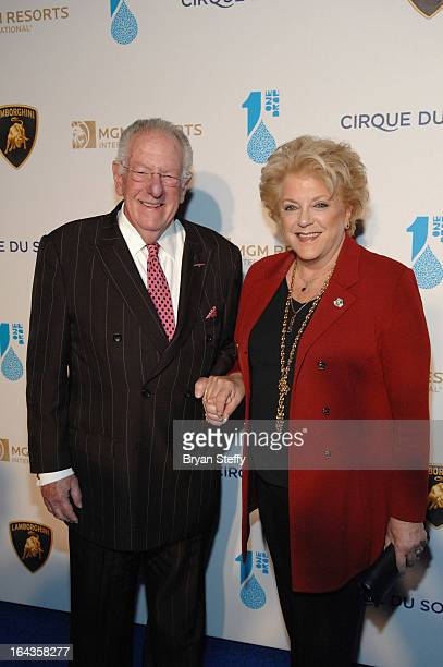 Former Las Vegas Mayor Oscar Goodman and Las Vegas Mayor Carolyn Goodman arrive at Cirque du Soleil's One Night for ONE DROP at Hyde Bellagio on...
