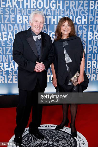 Former Laureate Alexander Markovich Polyakov and Dr. Daria Polyakov attend the 2017 Breakthrough Prize at NASA Ames Research Center on December 4,...