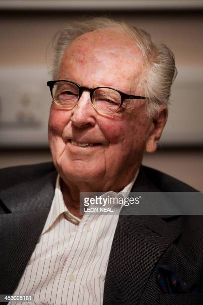 Former lawyer Lord Hutchinson who defended Christine Keeler in the Profumo affair trial is pictured at a press conference in London on December 2 for...