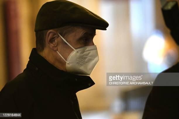 Former leader of Basque separatist group ETA Josu Ternera wearing face mask whose real name is Jose Antonio Urrutikoetxea Bengoetxea attends the...