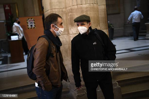 Former leader of Basque separatist group ETA, Josu Ternera, whose real name is Jose Antonio Urrutikoetxea Bengoetxea , speaks with his son Egoitz...