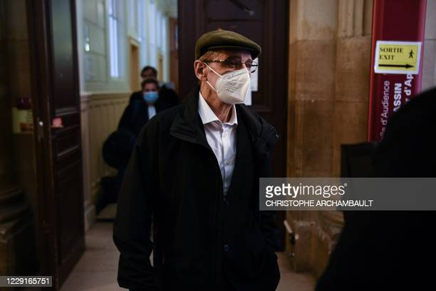 Former leader of Basque separatist group ETA, Josu Ternera, whose real name is Jose Antonio Urrutikoetxea Bengoetxea, exits a courtroom at the...