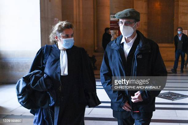 Former leader of Basque separatist group ETA, Josu Ternera , whose real name is Jose Antonio Urrutikoetxea Bengoetxea, walks with his lawyer Laure...