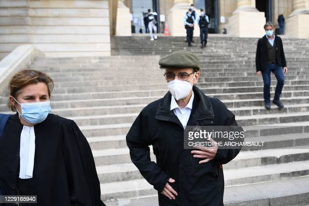 "Former leader of Basque separatist group ETA, Josu Ternera, whose real name is Jose Antonio Urrutikoetxea Bengoetxea, leaves the ""Palais de Justice""..."