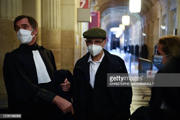 Former leader of Basque separatist group ETA Josu Ternera whose real name is Jose Antonio Urrutikoetxea Bengoetxea walks in a corridor of the Palais...