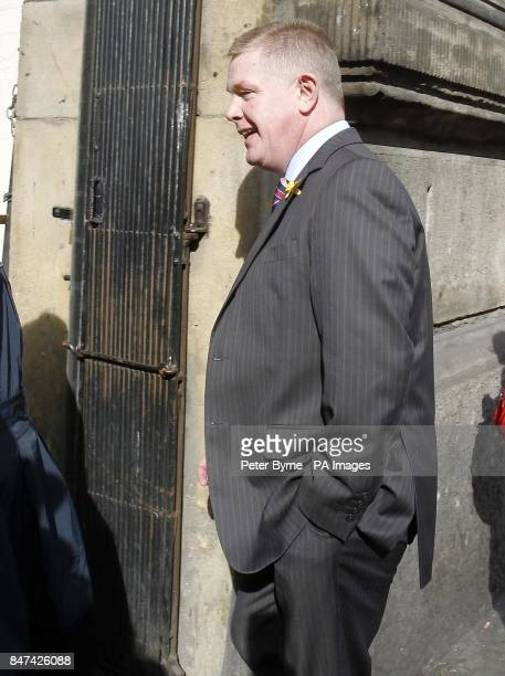 Former leader of Liverpool City Council Warren Bradley arrives at Liverpool Magistrates' Court where he is charged with perjury following a police...
