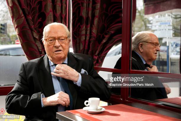 Former leader of the Front National JeanMarie le Pen is photographed for Paris Match at the restaurant on March 02 2018 in Paris France