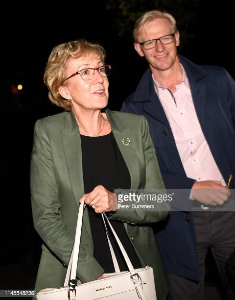 Former Leader of the House of Commons Andrea Leadsom arrives at her home after announcing her resignation from government on May 22 2019 in London...
