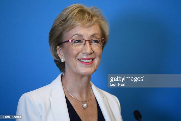 Former Leader of the House of Commons Andrea Leadsom formally launches her bid to become the new leader of the Conservative Party and Prime Minister...