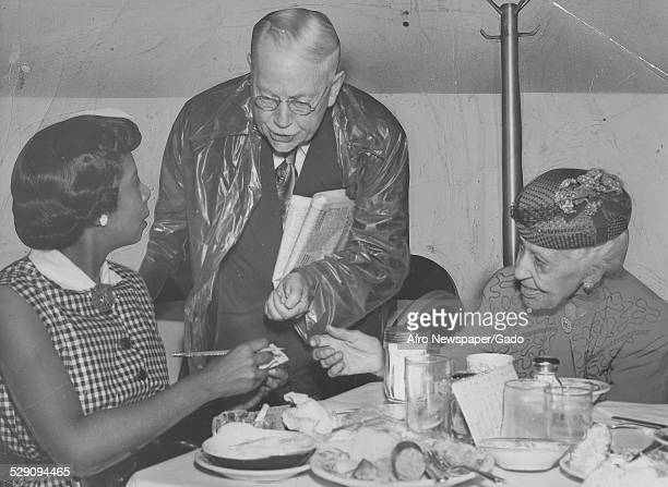Former leader of the National Association of Colored Women Marry Church Terrell June 27 1953