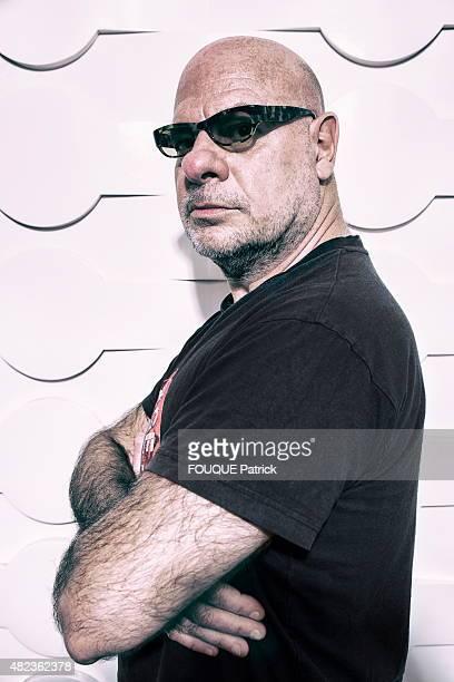 Former leader of the rock band Trust Bernie Bonvoisin poses on June 25 2015 in Paris France