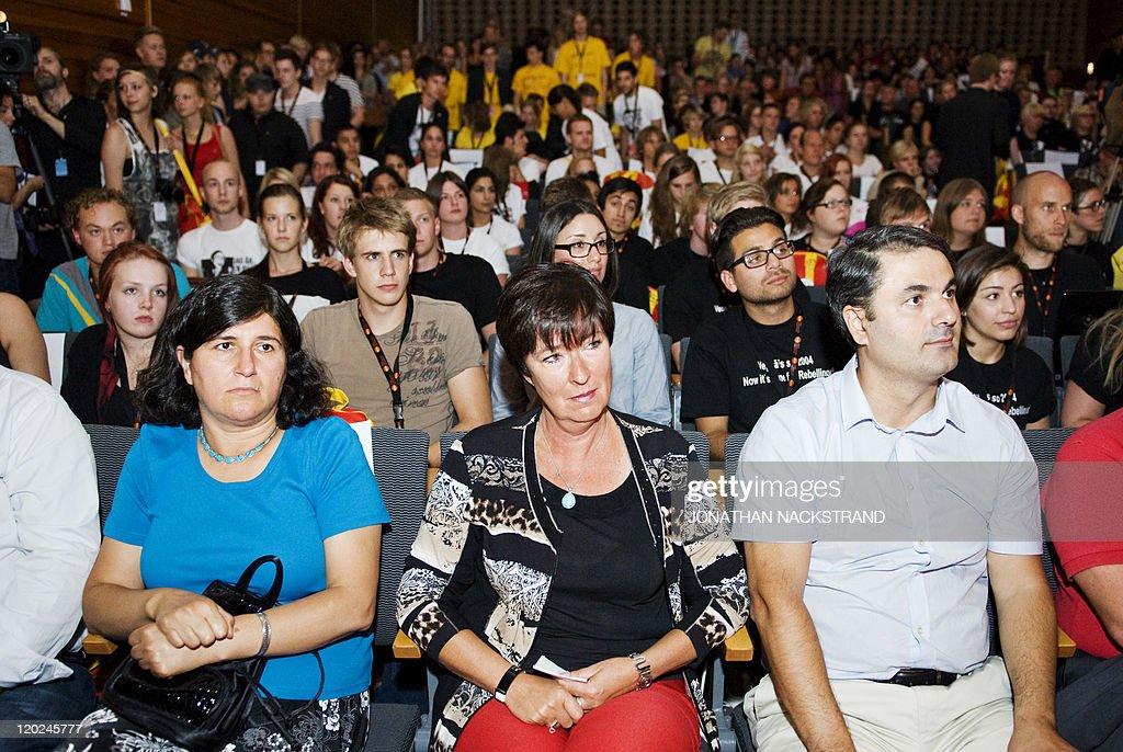 Former leader of the Swedish Social Demo : News Photo