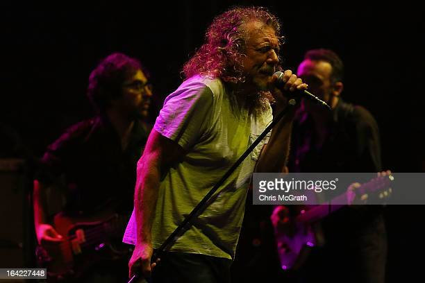 Former Led Zeppelin lead singer Robert Plant performs with his band The Sensational Space Shifters during the Timbre Rock & Roots Festival 2013 on...