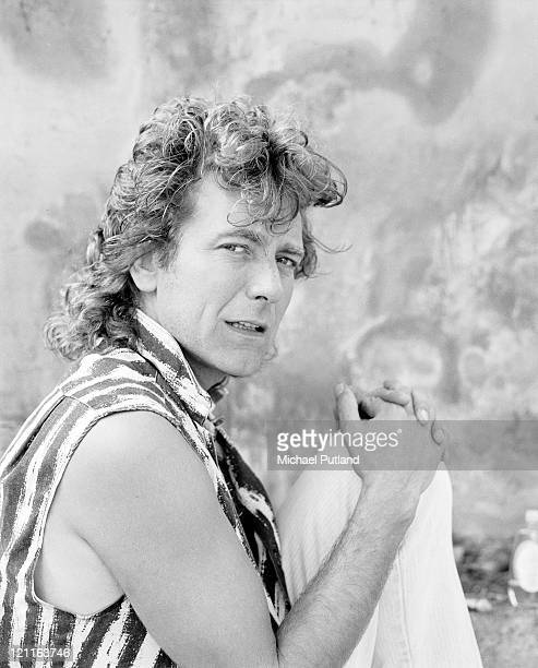 Former Led Zeppelin singer Robert Plant at his home in Wales May 1985 Photo by Michael Putland/Getty Images