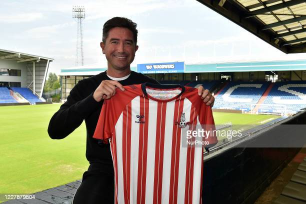 AUGUST 1ST 2020 Former Leeds United and Liverpool star Harry Kewell arrives at Boundary Park to take up the role of Head Coach at Oldham Athletic On...