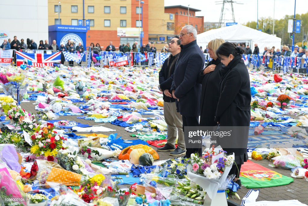 Leicester City Fans Continue to Mourn the Death of Club Owner Vichai Srivaddhanaprabha : News Photo