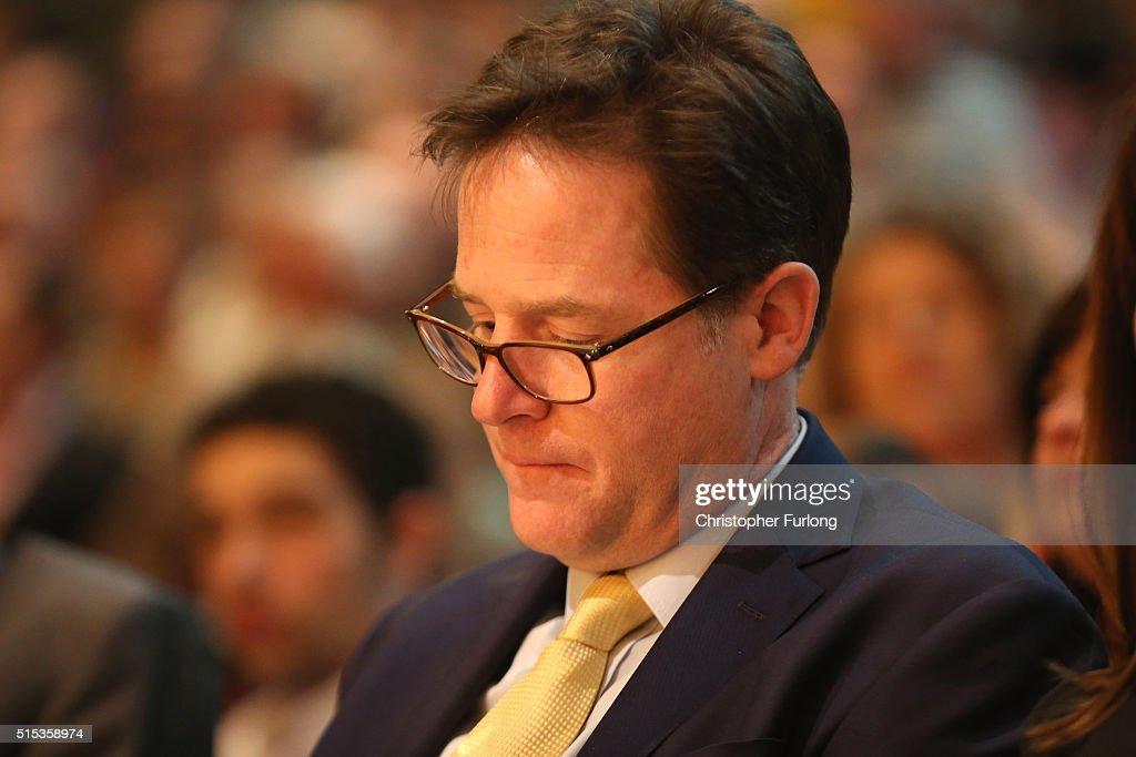 Tim Farron Addresses The Liberal Democrat Spring Conference : News Photo