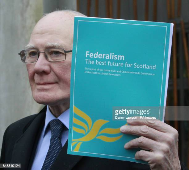 Former Liberal Democrat leader Sir Menzies Campbell launches a Home Rule and Community Rule Commission report entitled 'Federalism the best future...