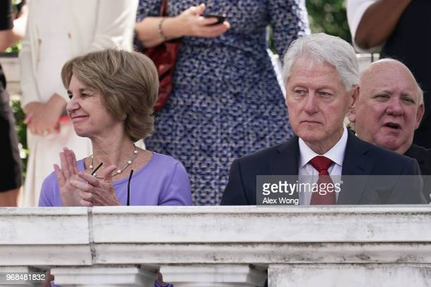 Former Lieutenant Governor of Maryland Kathleen Kennedy Townsend applauds during the memorial service of her father Robert Kennedy to mark the 5oth...
