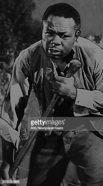 Former lightheavyweight boxing champion and actor Archie Moore during the Broadway production of Mark Twain play Huckleberry Finn 1961