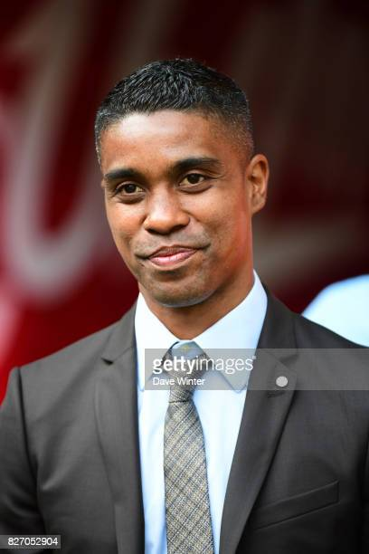 Former Lille player Franck Beria who now works as the liaison between the players and the staff during the Ligue 1 match between Lille OSC and Nantes...