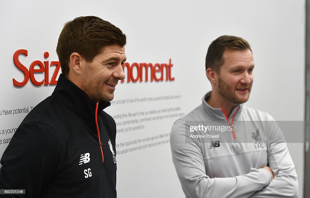 Steven Gerrard Signs To Liverpool Academy Coaching Role : News Photo