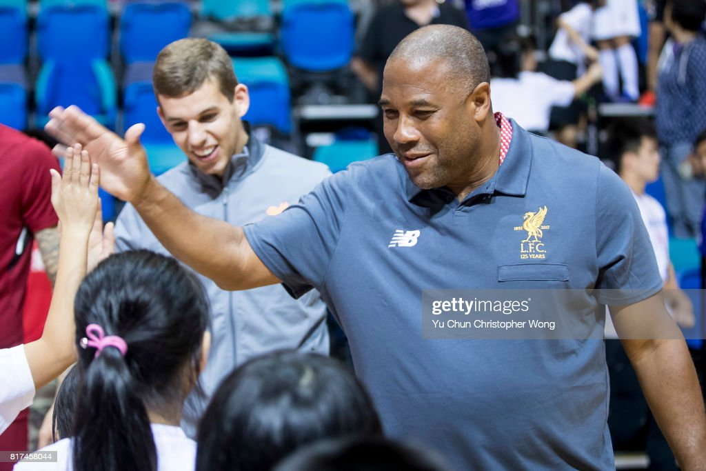 Former Liverpool FC player John Barnes attends the Premier League Asia Trophy Skills Session at Macpherson Stadium on July 18, 2017 in Hong Kong, Hong Kong.