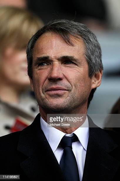 Former Liverpool player Alan Hansen looks on from the stands during the Barclays Premier League match between Liverpool and Tottenham Hotspur at...