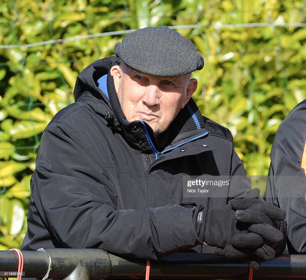 Former Liverpool player and coach Ronnie Moran watches the action during U18 Premier League match between Liverpool and Sunderland at the Liverpool FC Academy on February 23, 2016 in Kirkby, England.