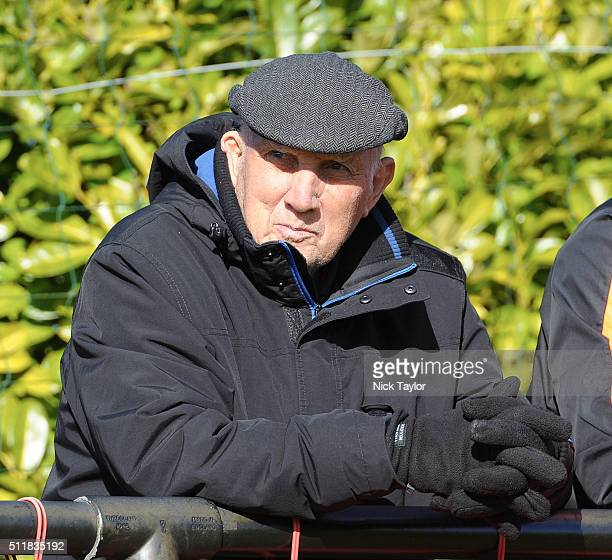 Former Liverpool player and coach Ronnie Moran watches the action during U18 Premier League match between Liverpool and Sunderland at the Liverpool...