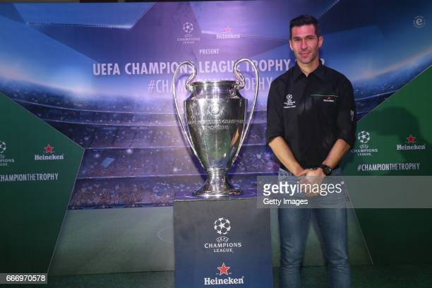 Former Liverpool player Luis Garcia attends the UEFA Champions League Trophy Tour presented by Heineken event on April 10 2017 in Mumbai India