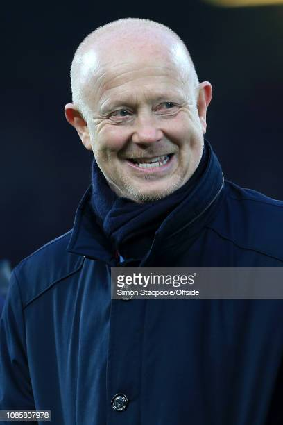 Former Liverpool player Mark Wright looks on during the Premier League match between Liverpool and Crystal Palace at Anfield on January 19 2019 in...