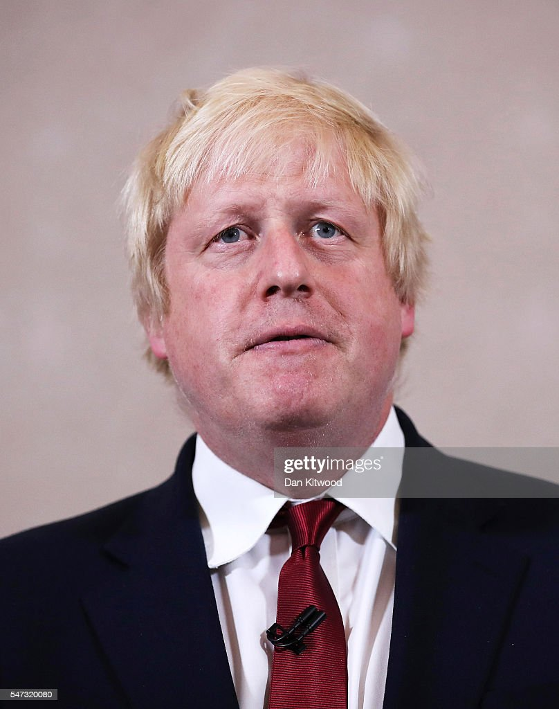 Former London Mayor and Conservative MP Boris Johnson speaks as he rules himself out of becoming the next Conservative party leader at St Ermin's Hotel on June 30, 2016 in London, England. Nominations for MP's to declare their intention to run for the Conservative Party Leadership and therefore British Prime Minister will close by noon today. The current Prime Minister and party leader, David Cameron, announced his resignation the day after the UK voted to leave the European Union.