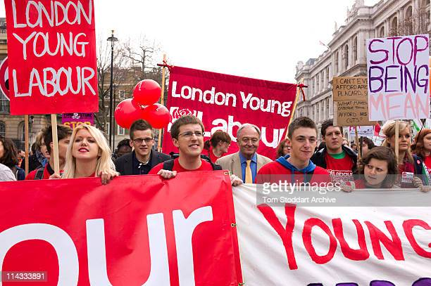 Former London Mayor Ken Livingstone marching with members of London Young Labour at the March for the Alternative organised by the Trades Unions...