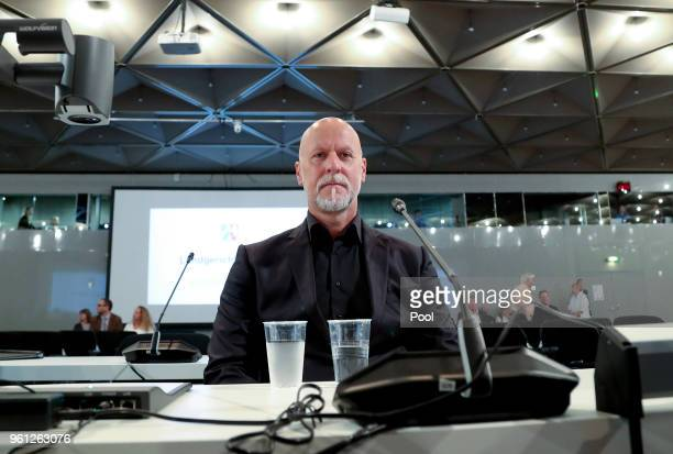 Former Lopavent CEO Rainer Schaller attends his hearing of the Love Parade trial at the CCD-East on May 22, 2018 in Dusseldorf, Germany. On July 24...